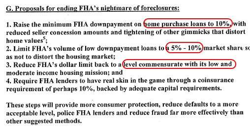 fha conclusions