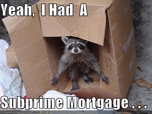 I am going to write a term paper about sub prime mortgages but I'm having trouble.?