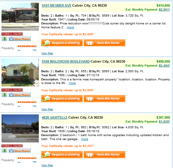 culver city foreclosure list