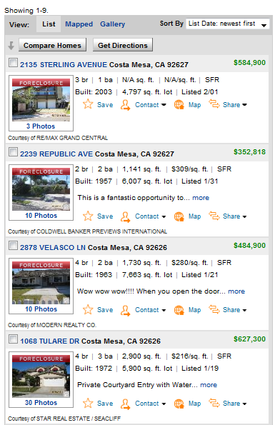 mls costa mesa foreclosures