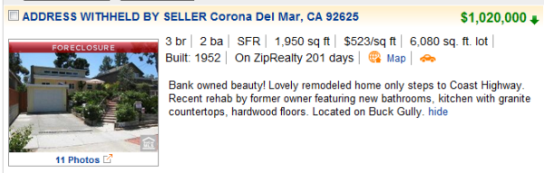 corona del mar foreclosure