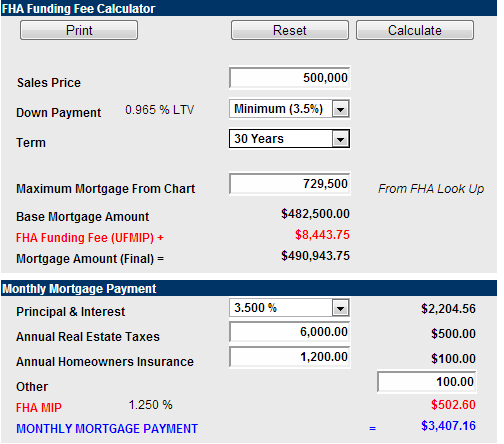 fha loan amount