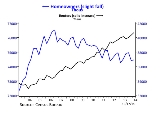 renter and homeowner households