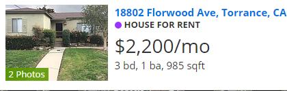 torrance rent
