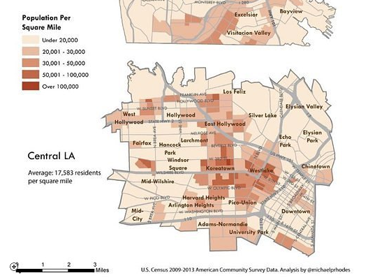 los angeles density