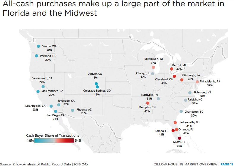 Nearly Half Of The Homes Purchased In Major Cities In Florida Are - Major cities in florida